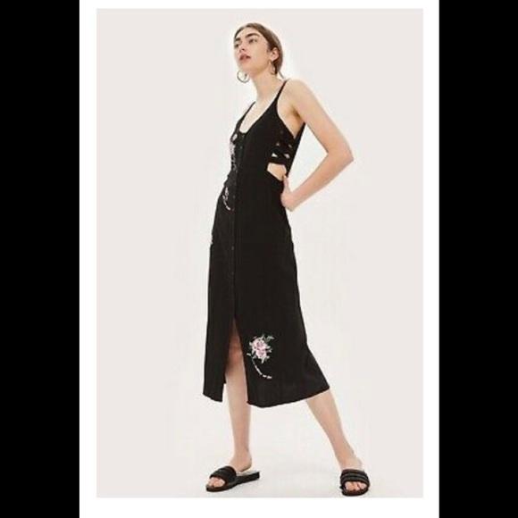 Topshop Dresses & Skirts - Topshop I Love You More Button Midi Dress NWOT